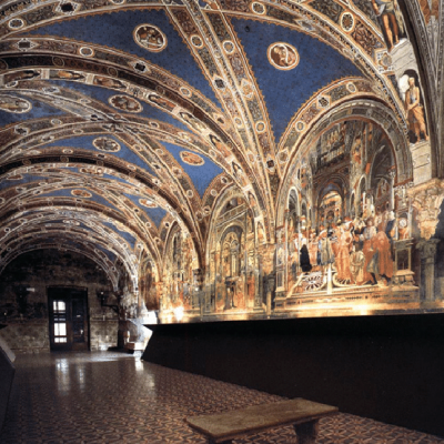 Domenico di bartolo and others pellegrinaio of santa maria della scala siena italy